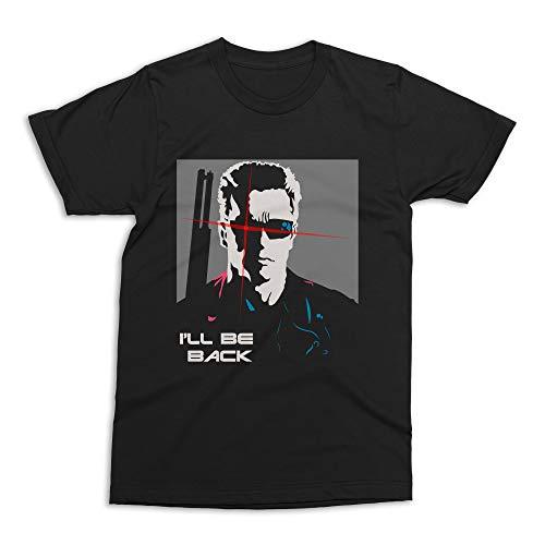 Camiseta Exterminador do Futuro Minimalista Preta Adulto Unissex (P)