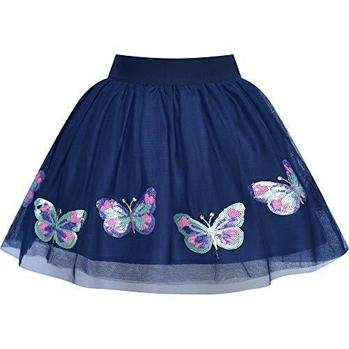 Mädchen Rock Schmetterling Gestickt Tutu Tanzen Gr. 128-134