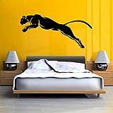 DCJ Pegatinas de pared Panthere Black Puma Jaguar Cat Wild Animal Sticker Vinilo Adhesivo de pared