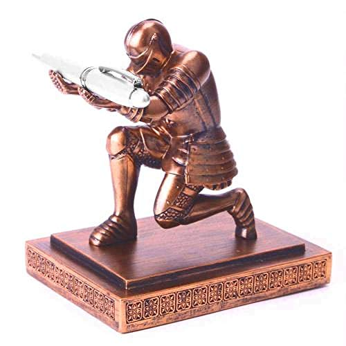 HSIYE Estatuas Estatuilla de Soldado de Estado de Caballero, Soporte para lápiz, Organizador de Escritorio, Accesorio de Oficina, estatuilla, Escultura, decoración del hogar en Miniatura