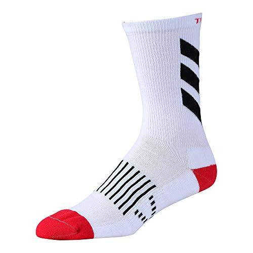 Troy Lee Designs 853628125 Performance Crew Sock Escape Wht/Blk 10-13