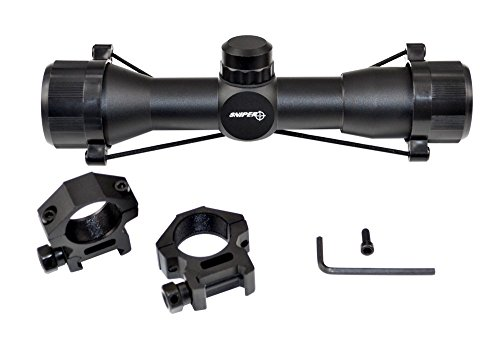 Sniper Compact Rifle Scope MT4x32 with Ring, Hunting Scope, Crossbow Scope