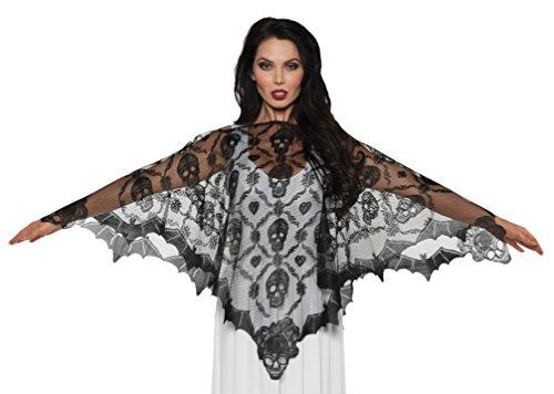 UNDERWRAPS Vampire Lace Poncho Adult Costume