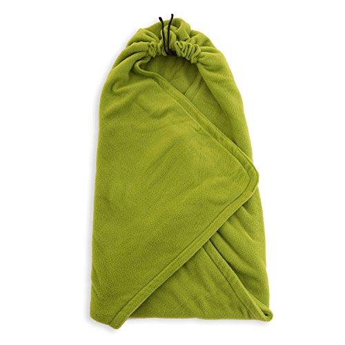 HOPPEDIZ® Couverture en laine polaire vert