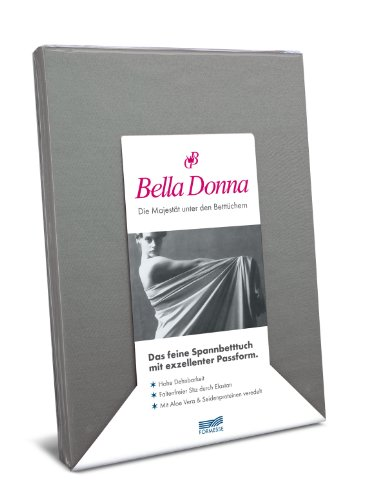 Formesse Bella Donna Jersey Spannbetttuch , Größe:90x190-100x220 cm;Farbe:0125 Platin
