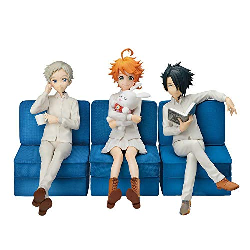 The Promised Neverland Emma Action PVC Figure Emma,Norman,Ray Soft Model Statue Anime Toys Collectible Doll Toy Gift for Anime Fans (style4)