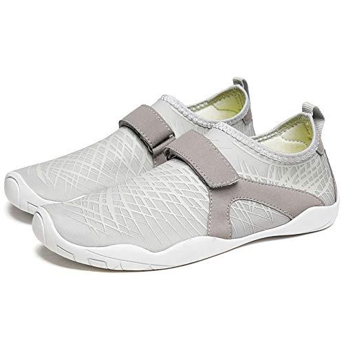 WHSS Zapatos de Playa Pareja de Verano Zapatos de Playa Antideslizantes Que absorben el Sudor Zapatos de natación Zapatos Deportivos al Aire Libre Calzado de Mujer multicorte (Blanco)
