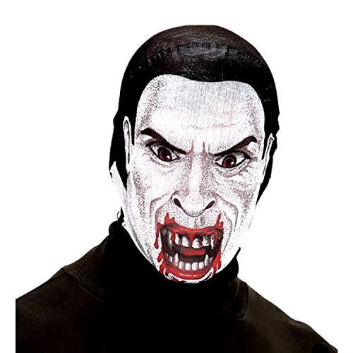 EVRYLON Vampir Dracula Maske aus GRAF Dracula Horror Stoff
