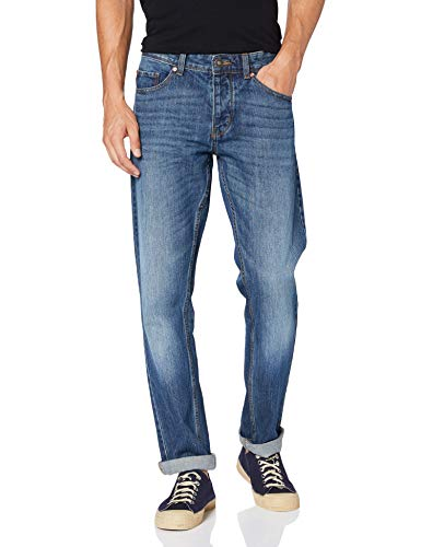 United Colors of Benetton Herren Pantalone Straight Jeans, Blau (Blu Denim Scuro 901), 36 (Herstellergröße: 28)