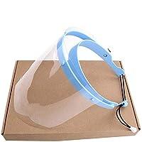 MOCN Safety – Pantalla Facial, Cocina cocinar, Aceite de Doble Cara Anti-Fog Anti Splash Transparente, protección máscara Facial Visera, Ojo Protección,Con 10 parasoles protección máscara Facial Viser