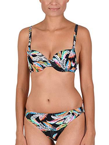 Naturana Push up Bikini 72558 Gr. 42 B in schwarz-Fuchsia-Karibik