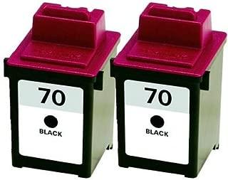 Axiom 2Pack Remanufactured Lexmark 12A1970 #70 Black Ink Cartridge For Lexmark Z Series Z11 Z31 Z42 Z43 Z45 Z51 Z52 Z53 Z54 Z80 Z82 Z703 Z710