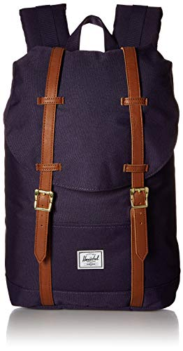 Herschel Unisex-Erwachsene Retreat Mid-volume Multipurpose Backpack, Lila Samt/Hellbraunes Kunstleder
