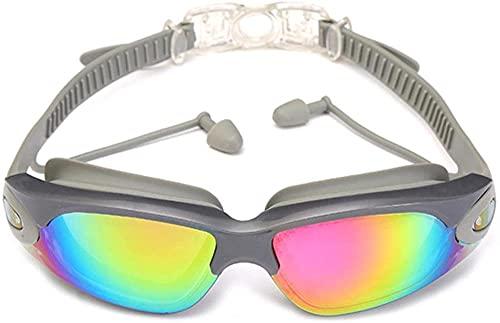 ZJJJD Gafas De Natación Gafas De Natación Con Tapones Para Los Oídos, Pinza Para La Nariz, Galvanoplastia De Silicona Impermeable Para Adultos-d_un Tamaño Gafas Piscina Gafas Buceo Niño