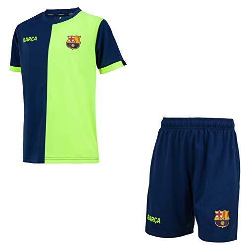FC Barcelona - Camiseta de manga corta para niño, Unisex niños, azul,...