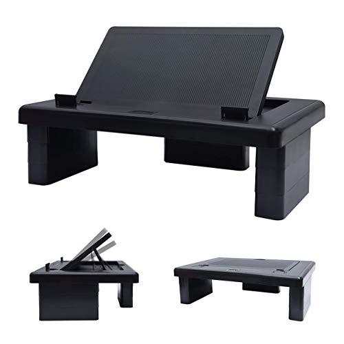 DAC - Supporto regolabile per monitor convertibile, altezza e angolazione, regolabile, per computer desktop o notebook