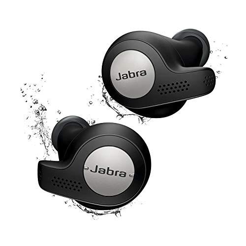 Jabra Elite Active 65t Alexa Enabled True Wireless Sports Earbuds with Charging Case - Titanium Black (Renewed)