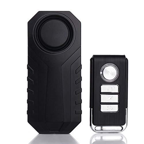 Vibrationssensor Fahrrad Alarm Anti-Diebstahl-Einbrecher-Wireless-Alarm Mit Fernbedienung for Fahrrad/Motorrad/Fenster...