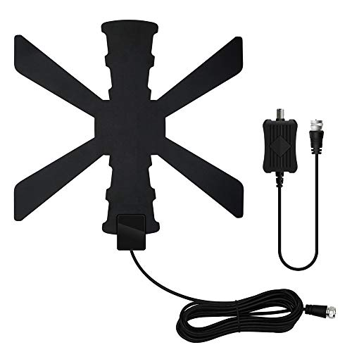 Amplified HD Digital TV Antenna up to 120+ Miles Range -HDTV Antenna with Amplifier Signal Booster for 4K 1080p Fire tv Stick Local Channels and All TV's