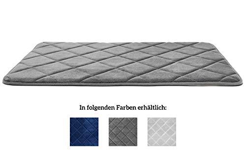 JAWA Premium Badteppich [50x80cm] - Badematte rutschfest - Badezimmerteppich Extrem Saugfähig - Badvorleger Sehr Pflegeleicht - Duschvorleger für WC, Dusche, Bad - Bad Teppich - Badläufer