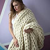 VIYEAR Chunky Knit Blanket Soft Handmade Knitting Throw Bedroom Sofa...
