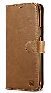 Icarer Wallet Case For Samsung S8 Plus, Genuine Leather, Brown- Rs991005- Br
