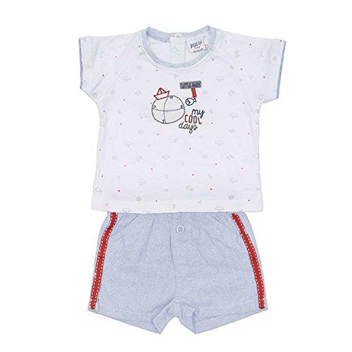 Mercaroupa - Camiseta Y Short YATSI BEBÉ bebé-niños Color: Azul Talla: 3M