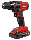 Einhell 4513846 Taladro sin Cable TC-CD 18-2 litio 18 V, 18 W, Rojo