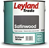 Leyland Trade 264700 Satinwood, Brilliant White, 2.5 Litre