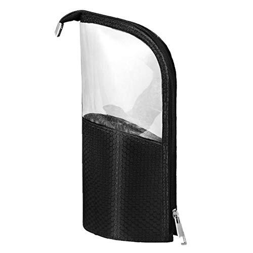Makeup Brush Cosmetic Storage Bag, semi-Circular Transparent Cosmetic Bag, Plastic Transparent Travel Cosmetic Storage Bag, Stationery Bag Utilities