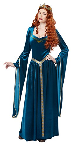 California Costumes Women's Lady Guinevere Costume/Teal, Large