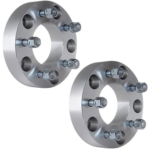 ECCPP 2X 5x5.5 to 5x5 Wheel Spacers Adapters 5 Lug 1.5' 5 Lug 38mm Compatible with Ford Bronco E-150 E-150 with 1/2' Studs