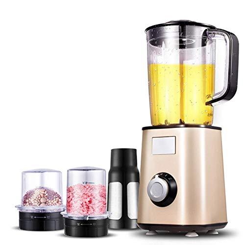 Blender, mixer met 3-in-1, lemmet van roestvrij staal 304. Geschikt voor hakmolen, molen, hakmolen, koffiemolen, champagne optioneel.