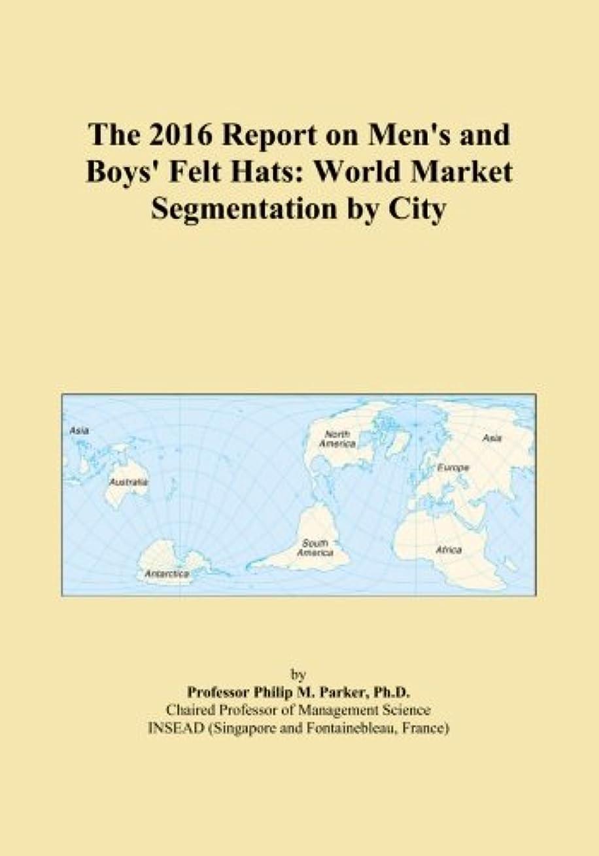 靄連鎖支払うThe 2016 Report on Men's and Boys' Felt Hats: World Market Segmentation by City
