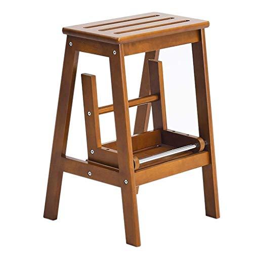 Home Opstapjes, Opstapje, Multifunctioneel Eikenhouten Huishouden, Opklapbare Kinderstoel Met 2-Staps Lift, Opvouwbare Opvouwbare Bibliotheek/Keuken/Kantooropstapjes (29 Keer; 48 Keer; 54 Cm)