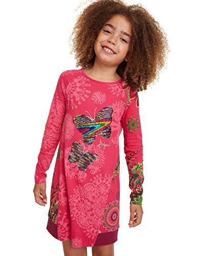 Desigual Dress SANDÍA Vestido, Rosa (Fuchsia Rose 3022), 14 años para Niñas