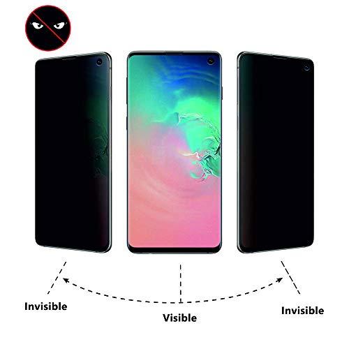 Arrivly Anti-Spähen Panzerfolie für Samsung Galaxy S10+ Blickschutzfolie Privacy Screen Protector [Anti-Spy] TPU Film Blickschutz Folie Kratzfest Sichtschutzfolie [Kein Glas] (Galaxy S10 Plus)