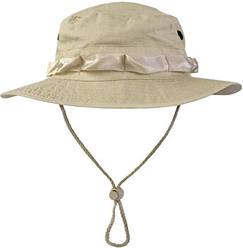 normani Australian Outdoor Hut Boonie Hat in vielen Farben und Grössen Farbe Beige Größe L