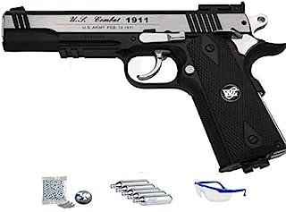 WG 1911 Sport 601 MAB - Pack Pistola de Aire comprimido (CO2) réplica Colt de balines de Acero BB's Cal 4.5mm | Potencia <3.5 J