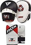RDX Manoplas Boxeo y Guantes Curvas Paos Muay Thai MMA Artes Marciales Kick Boxing Focus Pads Entrenamiento Patadas Karate