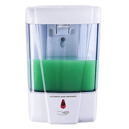 Dispensador de jabón Smart Lotion Dispensador de jabón Comercial de Montaje en Pared automática 600ml Manos Grande sin Contacto eléctrico dispensador de jabón de plástico ABS Negro ningún escaparse