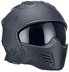 Motorhelm Jethelm Helm RALLOX 726 mat zwart met pluggable kindeelgrootte M*