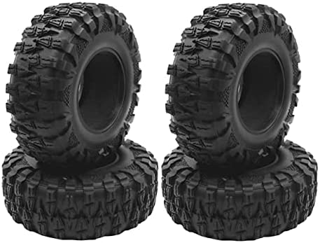 LSB-SHOWER 4PCS 120mm Max 57% OFF Philadelphia Mall 2.2in Mud Grappler Tires Rubber Tyre Wheel