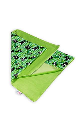 Petit Lulu Cambiador | Reutilizable y Lavable | Resistente al Agua | 50 x 70 cm | Pañales de Tela | Cambio de Pañales de Tela (Panda Bears)