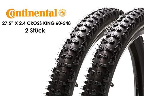 2 Stück 27,5 Zoll Continental Trail King Fahrrad Reifen 27,5x2.40 Mantel 60-584 Decke Tire schwarz