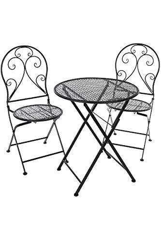 My Flair 66344 Bistro Table Set, Black