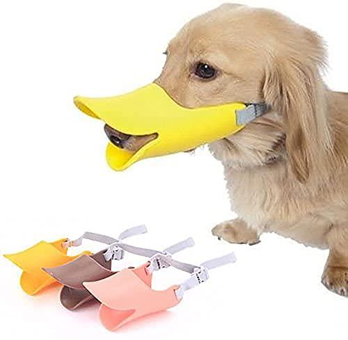 UpTuoLi Hundemaulkorb aus Silikon, gegen Beißen, Entenschnabel, Mundschutz für Hunde, gegen Beschwerden