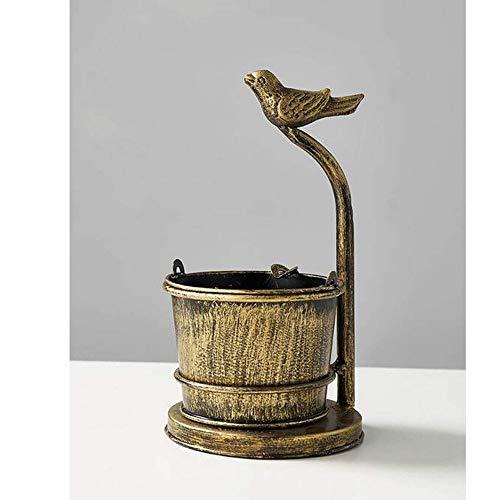 ToyHero® retro vogel gevormd standbeeld asbak sigaret tabak asbak grote capaciteit metalen emmer asbak geschenk voor roker geschikt voor binnen buiten terras kantoor brons