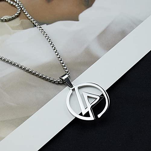 Sxcespp Collar de Lincoln Park de Moda y Simple Hipster Hip-Hop Hombres y Mujeres Collar con Logotipo de Banda de Rock Salvaje para Novio Regalo de cumpleaños del día de San Valentín