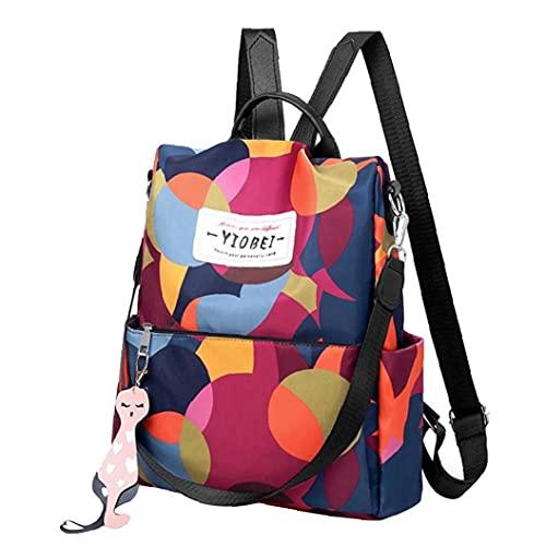 Bolsa de las mujeres Mochila impermeable anti-robo de mochilas de hombro para el recorrido casual uso de la escuela de camuflaje, impresión de la flor Mochila